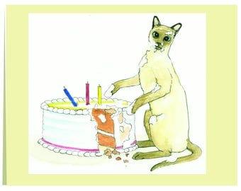 "Notecard "" Cat in the Cake"""