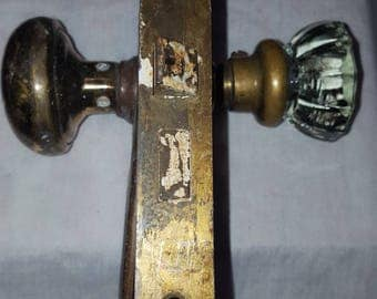 Glass and Brass knob Outer door set