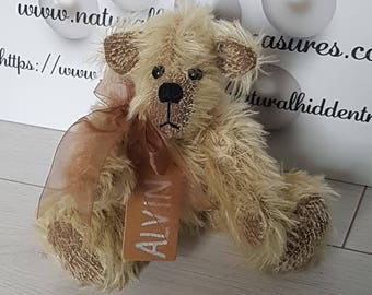 ALVIN Genuine Mohair Hidden Treasures Bear