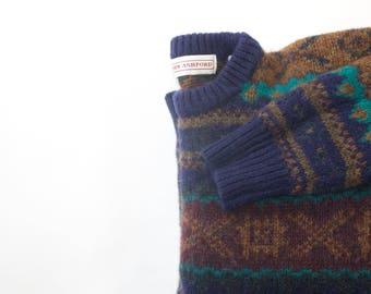 1990's John Ashford Knit Sweater 100% Shetland Wool