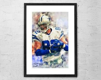 Jason Witten - Jason Witten Portrait - Jason Witten Print - Jason Witten Poster - Dallas Cowboys - Dallas Cowboys Poster - Football Gifts