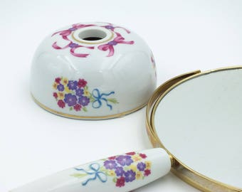 Vintage Musical Makeup Mirror and Stand
