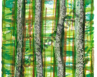 "Watercolor ""The forest"""
