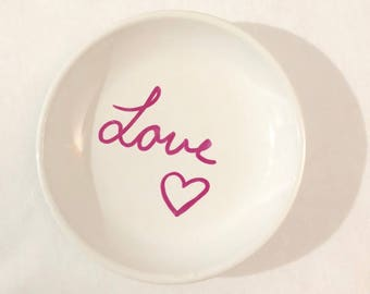 Ring dish, trinket dish, jewelry dish, for wedding and engagement rings, bridal gift, wedding gift, engagement gift,