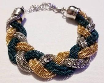 Braided Chain Mail Bracelet