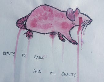 BEAUTY IS PAIN Painting