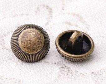 10pcs 12*9mm metal buttons bronze buttons round shank buttons coat buttons