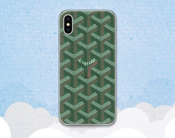 Goyard case iPhone X case Green Goyard case iPhone 8 Plus case Luxury Goyard case iPhone 7 case Galaxy S8 case Note 8 case Pixel 2 XL case