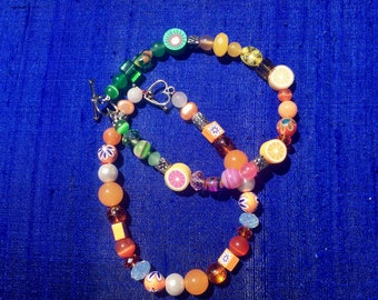 Duo of Beaded Bracelets with Clasp