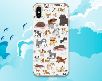 Dog case iPhone 8 case Cute dogs Galaxy S8 case Puppy Clear Case iPhone X case Google Pixel case Animal case Note 8 case LG G6 Silicone iPod