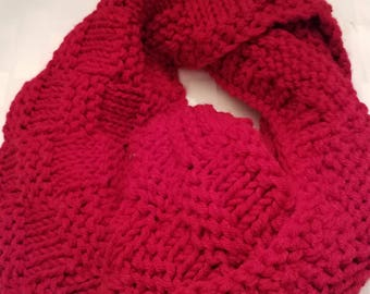 Hand knitted, Infinity cowl - hand made