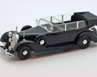 """1937 Mercedes Benz Cabriolet 3.75"""" Diecast Scale Model WT 304"""