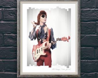 David Bowie Rebel Rebel A2 Art Print