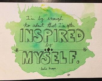 ORIGINAL- Leslie Knope hand drawn quote