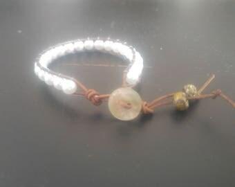 Pearl beaded handmade bracelet