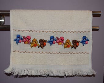 Cross Stitched Hand/Guest Towel