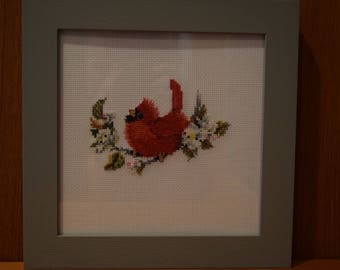 Completed Cross Stitch:  Lady in Red