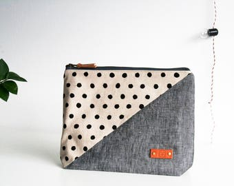 Cosmetic bag personalized, Large cosmetic bag, Cosmetic pouch, Travel pouch, Cosmetic case, Personalized gift