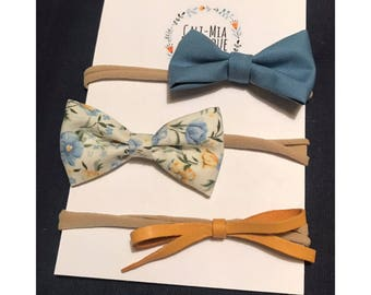 Set of 3 Bow Headbands