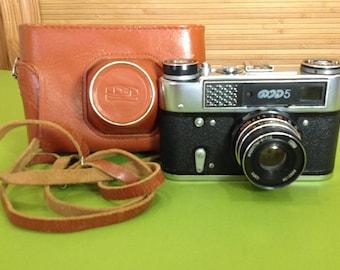 USSR Camera/Soviet Camera/Russian Camera/35 mm Film Camera/Vintage Camera/Fed 5 Camera/Rangefinder Camera/Retro Camera/Leica Copy Camera
