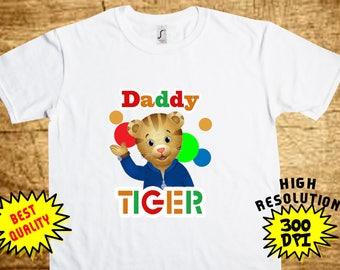 Daniel Tiger DADDY, Daniel Tiger Iron On Transfer, Daniel Tiger DADDY Printable DIY Shirt Transfer, Digital Files, Instant Download