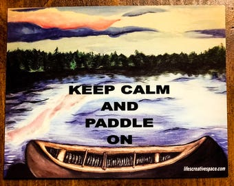 "Lot of Ten (10) ""Keep Calm and Paddle On"" Boundary Waters Canoe Area Postcards"
