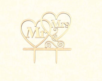 Mr & Mrs Heart Topper