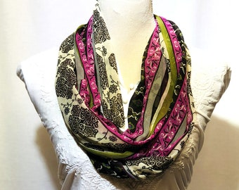 Multicolor printed scarf | summer collection | lightweight | handwoven