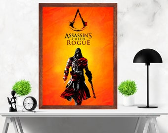 ASSASSIN'S CREED Minimalist Artwork Video Game Print Poster