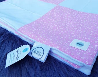 Patchwork Cuddly Blanket personalizable