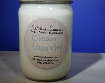 Soy Wax Clean Laundry Jar Candle