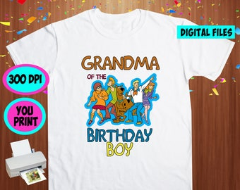 Scooby Doo. Iron On Transfer. Scooby Doo Printable DIY Transfer. Scooby Doo Grandma Shirt DIY. Instant Download. Digital Files Only.