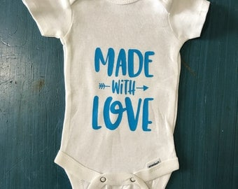 Made with Love Baby Onesie