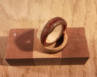 Ring beech, walnut and padauk