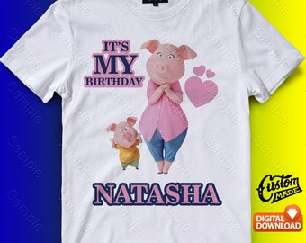 Rosita Sing Iron On Transfer, Rosita Sing Birthday Shirt DIY, Rosita Sing Shirt Designs, Rosita Sing Printable, Personalize, Digital Files