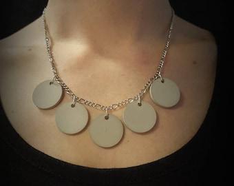 Jewelry Chain Round pendant concrete