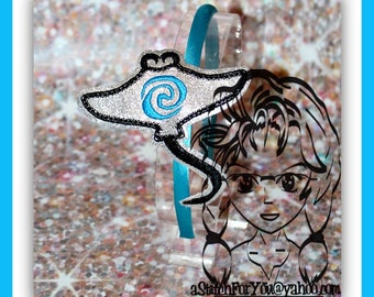 STiNGRAY Fish GrandMa HB Slider Hair Pretty Accessory ~ In The Hoop Headband ~ Downloadable DiGiTaL Machine Embroidery Design by Carrie