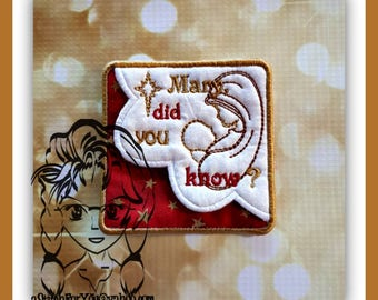 MaRY DiD YoU KNoW . . . Bible CoRNER BOOKMaRK ~ In the Hoop - INSTANT Download Machine Embroidery Design by Carrie