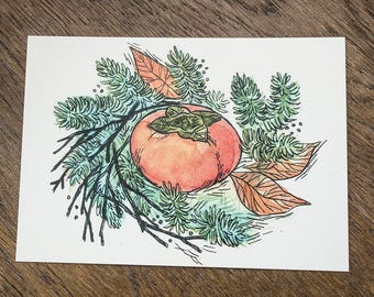 Persimmon Holiday Postcard
