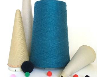 2/24 Acrylic Yarn on Cone - Teal - 1 lb 6 oz - Machine Knitting - Weaving - Crochet - Loom