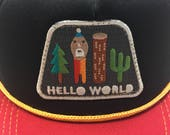 """Infant/Toddler Trucker Hat with """"Hello World""""..."""