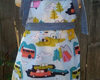 Dress Camping 12mos-3T bike Bus Baby Toddler Boutique