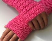 Kids' Pink Fingerless Gloves/Arm Warmers
