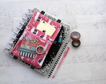 Llama bag - pink planner cover - llama planner cover - llama BUJO bag - llama drama gift - planner girl - pink pencil holder - teen gift