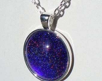 SUMMER SALE Violet Blue Nail Polish Mix Necklace ILNP My Private Rainbow Sinful Colors Lets Talk Nail Polish Jewelry