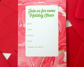 Holiday Invitations - Fill In