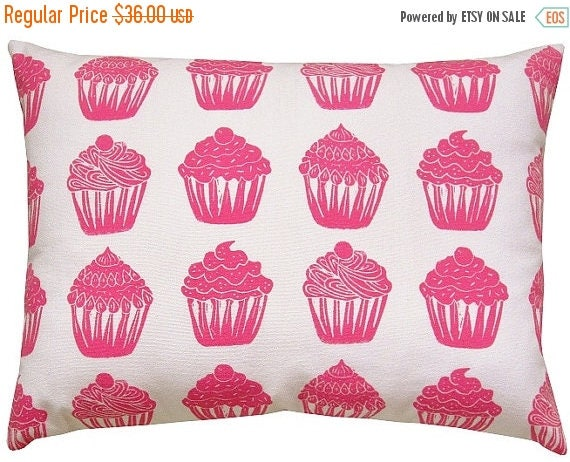 MEMORIAL DAY SALE cupcake accent sham pillow or travel pillow