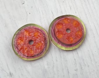 Textured - Orange, Pink, and Lime
