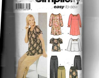 Simplicity Maternity Dress or Top, Pants and Skirt Pattern 5756
