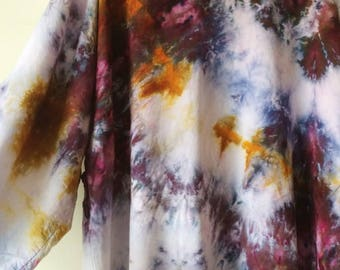 Ready to Ship Hand Dyed Galaxy Kimono Robe, Tie Dye, Shibori, Rayon Bathrobe, Anna Joyce, Portland, OR.